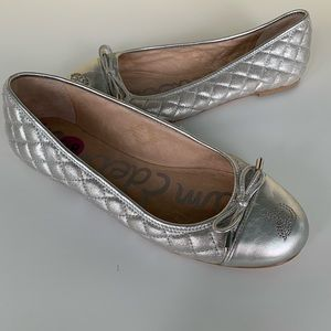 Sam Edelman silver quilted flats size 8.5 new